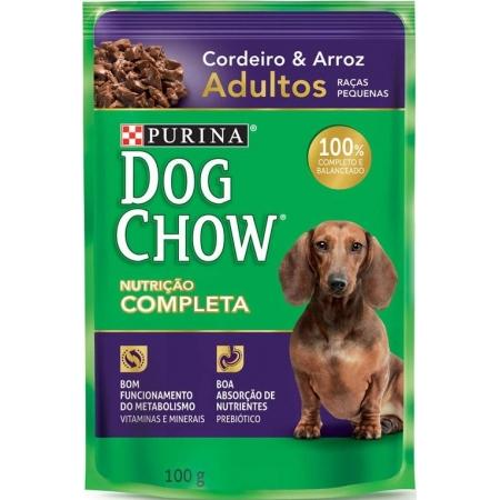 DOG CHOW ADULTOS R.P. CORDEIR & ARROZ 100G