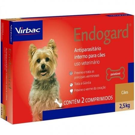 ENDOGARD 2,5KG CAIXA COM 2 COMPRIMIDOS