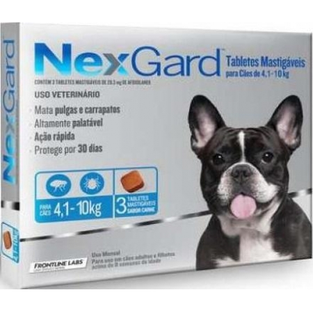 NEXGARD CAES 04,1-10 KG -3 TABLETES M