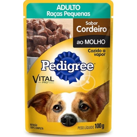 PEDIGREE SACHE ADULTO RAÇAS PEQ CORDEIRO 100GR