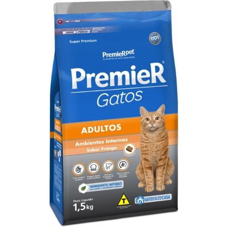 PREMIER GATOS ADULTOS FRANGO 1,5KG