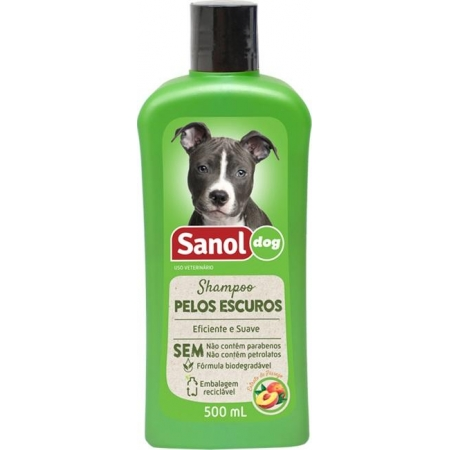 SHAMPOO SANOL DOG PELO ESCURO 500 ML