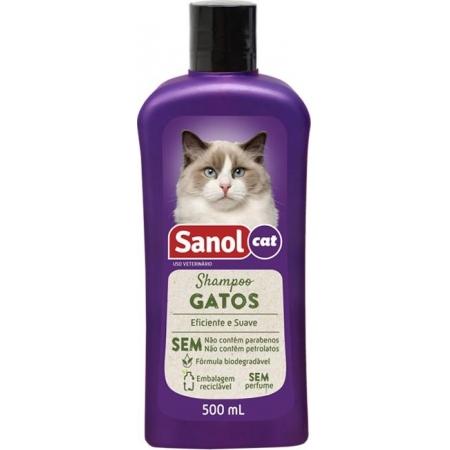 SHAMPOO SANOL VET GATOS 500ML