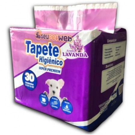 TAPETE HIG (60CMX90CM) COM 30UNID LAVANDA