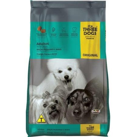 THREE DOGS ORIGINAL ADULTOS PEQ E MINI 1KG