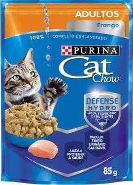 CAT CHOW WET ADULTOS FRANGO AO MOLHO 85G