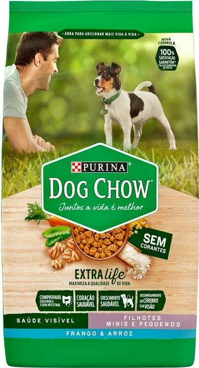 DOG CHOW FILHOTES RACA PEQUENA FRANGO E ARROZ 15KG