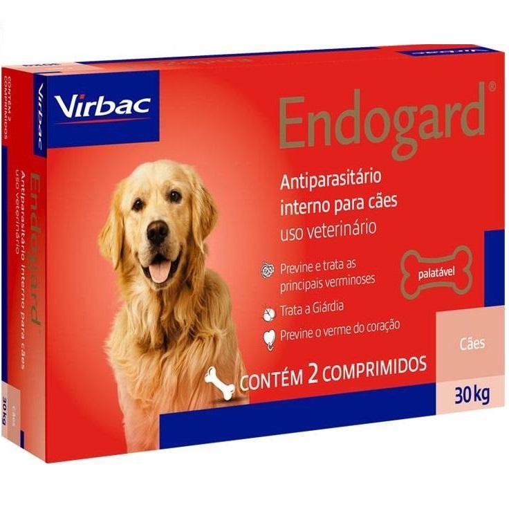 ENDOGARD 30KG CAIXA COM 2 COMPRIMIDOS