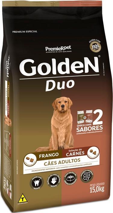 GOLDEN DUO FRANGO/ CARNE 15KG