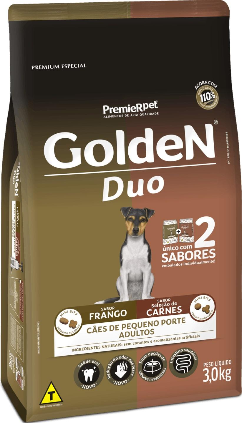 GOLDEN DUO FRANGO/ CARNE M. B. 3KG