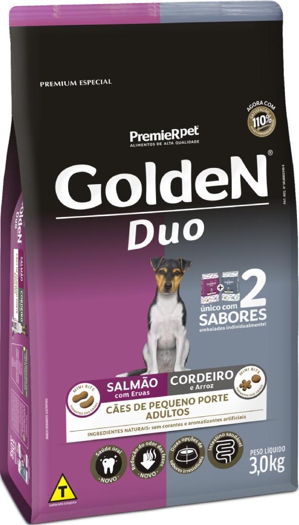 GOLDEN DUO SALMAO/ CORDEIRO M. B. 3KG