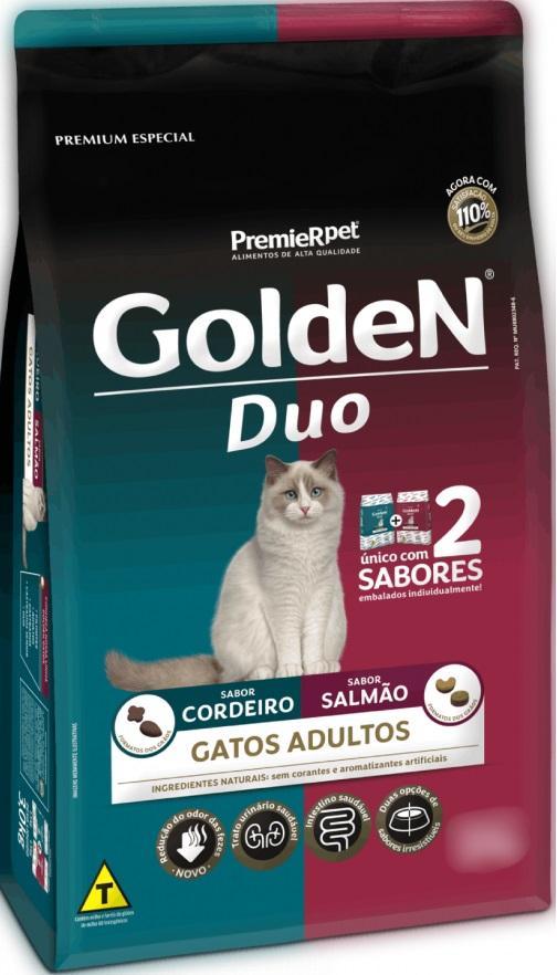 GOLDEN GATOS DUO SALMAO/CORDEIRO 10,1 KG