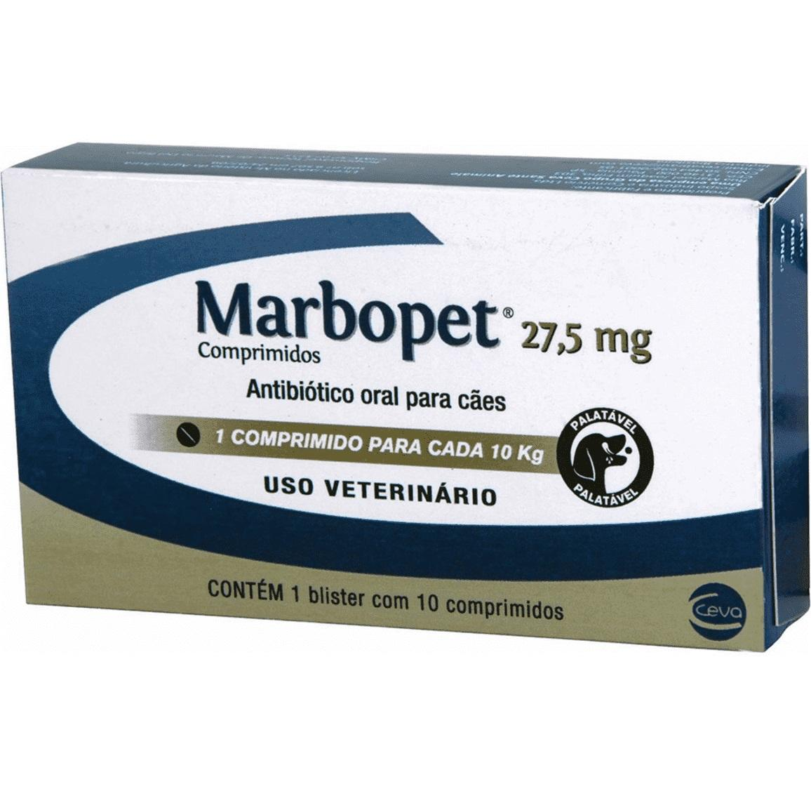 MARBOPET 27,5MG 10 COMPRIMIDOS