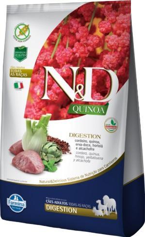 ND QUINOA CANINE ADULTO DIGESTION CORDEIRO 2,5KG