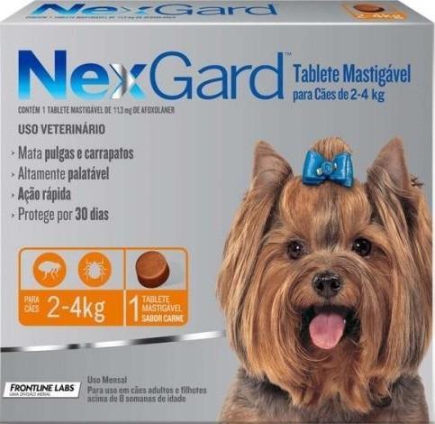 NEXGARD CAES 02-4 KG -P 0,5G