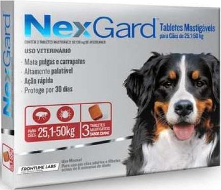 NEXGARD CAES 25,1 - 50 KG- 3 TABLETES -GG