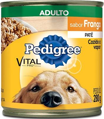 PEDIGREE LATA ADULTO FRANGO PATE 280GR