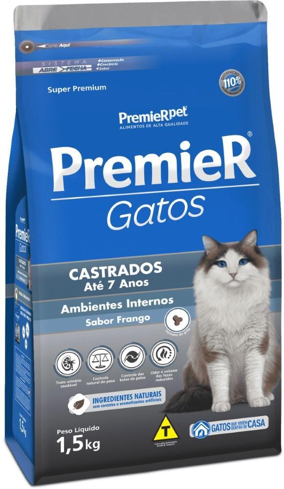 PREMIER GATOS CASTRADOS ATE 7 ANOS 1,5KG