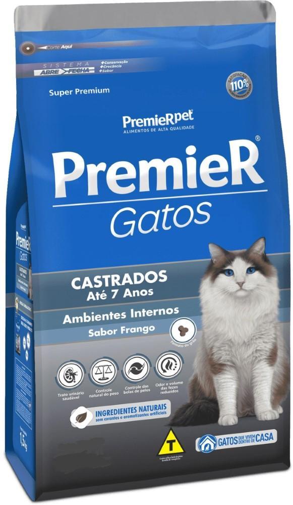 PREMIER GATOS PELOS LONGOS ADULTO SALMAO 7,5KG