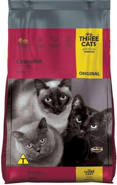 THREE CATS ORIGINAL CASTRADOS 3KG