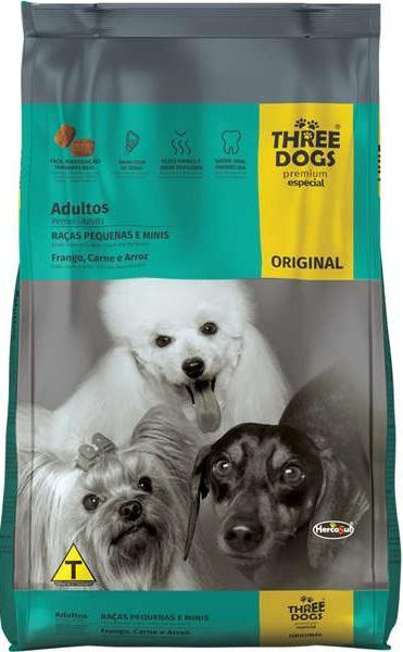 THREE DOGS ORIGINAL ADULTOS PEQ E MINI 15KG