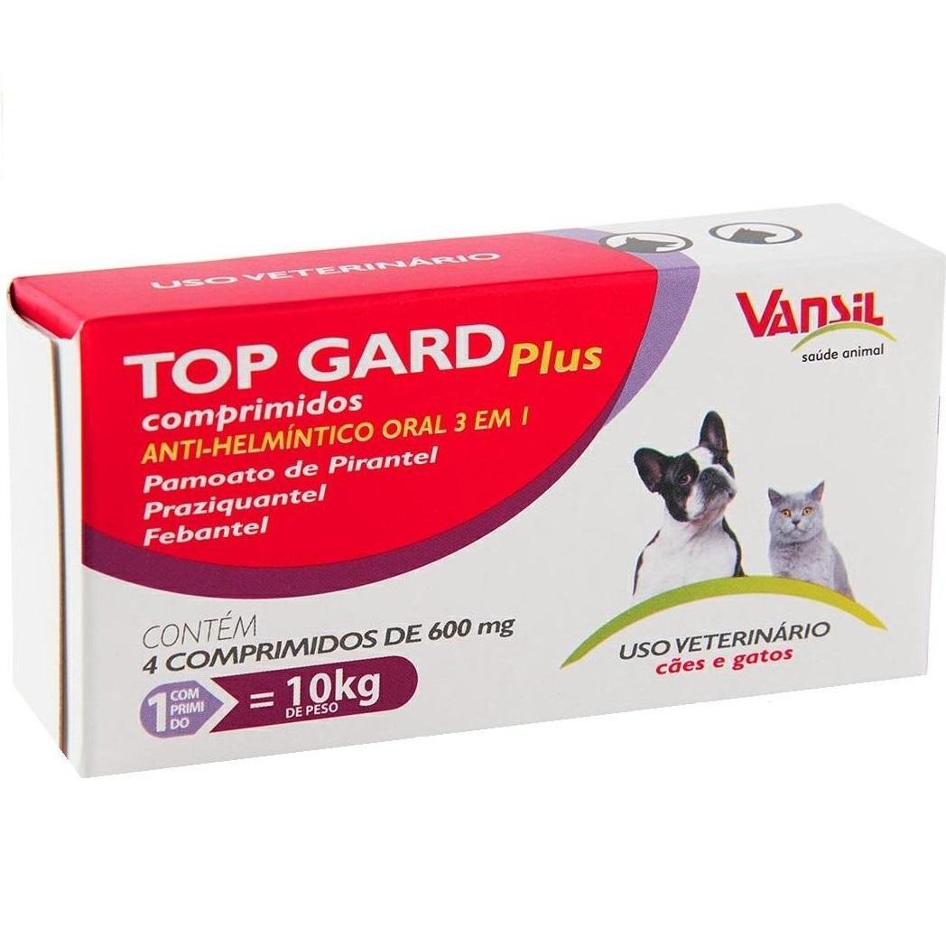 TOP GARD PLUS 4 COMPRIMIDOS 600MG
