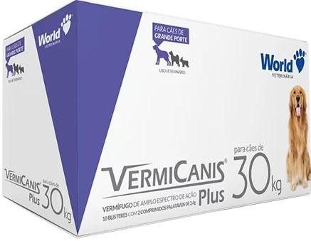 VERMICANIS PLUS 2,4GR CARTELA COM 2 COMPRIMIDOS