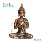 Buda sentado decor em resina 35,5cm