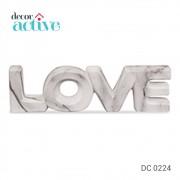 Palavra LOVE MARMORE em ceramica 21x5,5cm