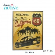 Quadro California decor 30x40cm