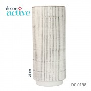 Vaso branco em cerâmica 26cm