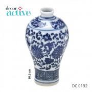 Vaso de porcelana Portugal branco e azul 10,5cm