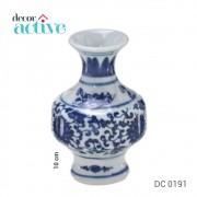 Vaso de porcelana Portugal branco e azul 10cm