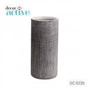 Vaso preto fibra em ceramica 27,5cm