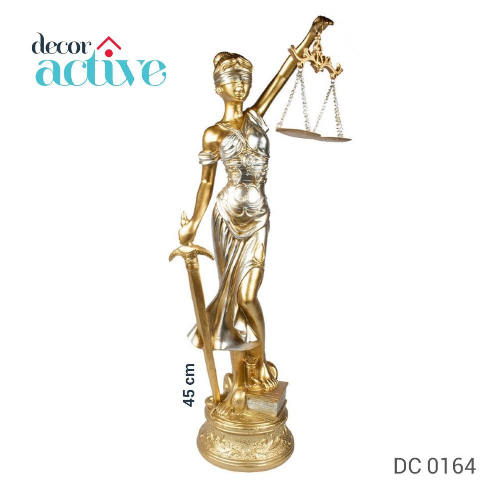 Dama da justiça estatua poliresina 45cm