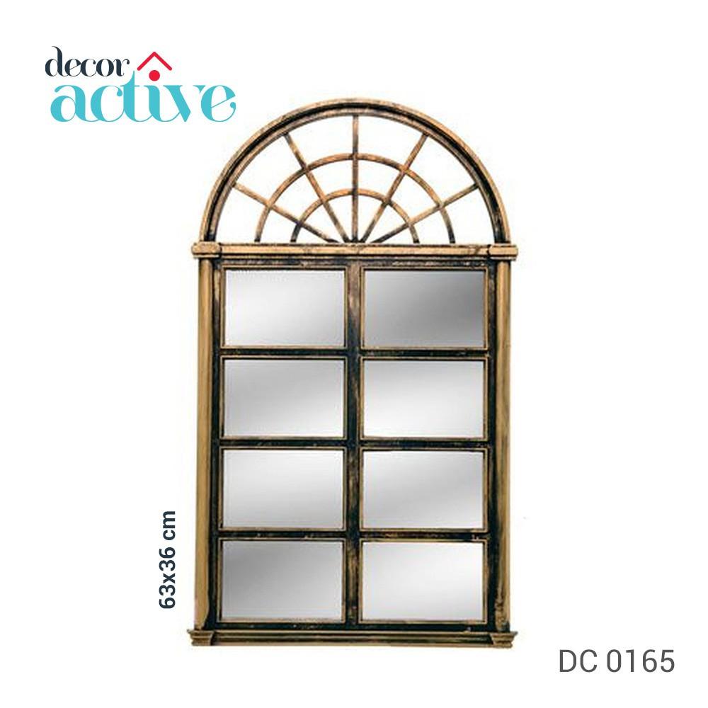 Espelho janela Décor dourada 63x36cm