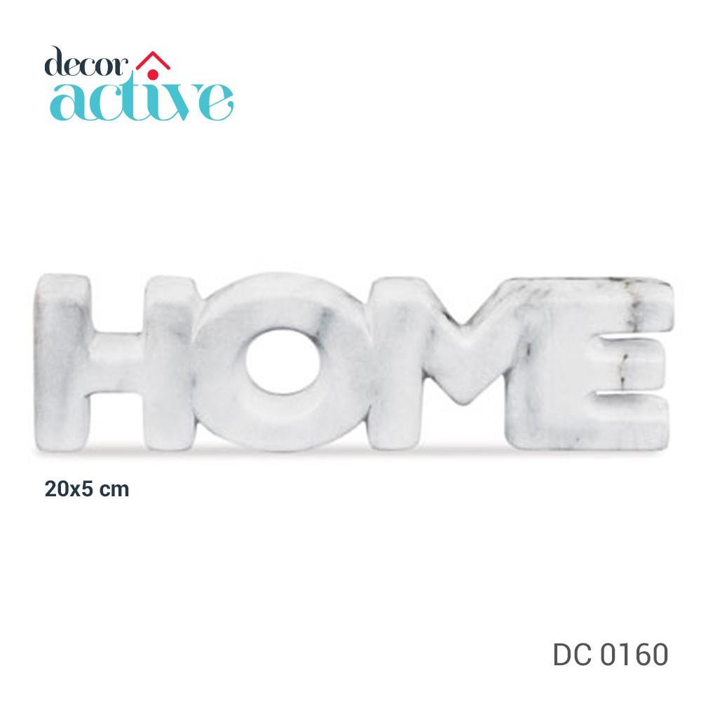 Palavra HOME cerâmica marmorizado 20x05cm