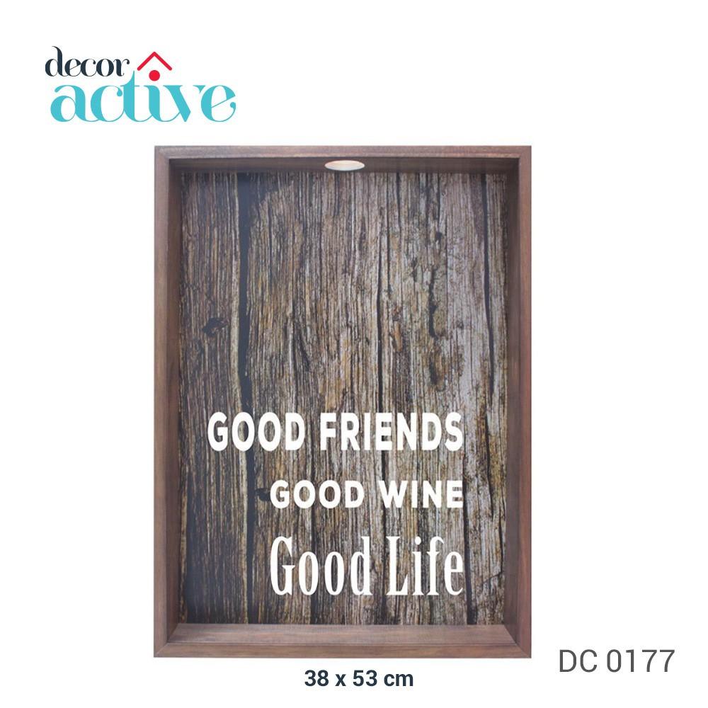 Quadro porta rolhas Good Friends 37x52cm