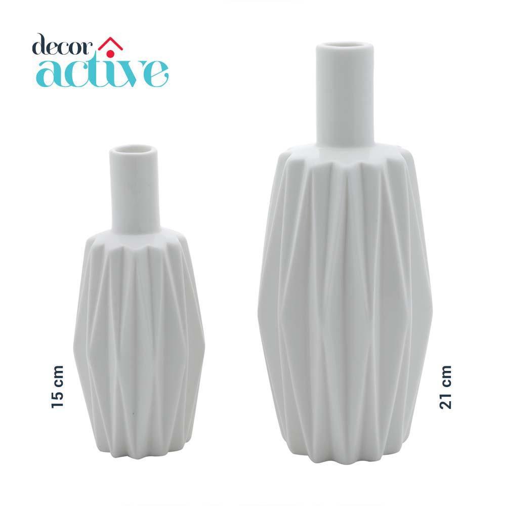 Vaso branco em porcelana 15cm