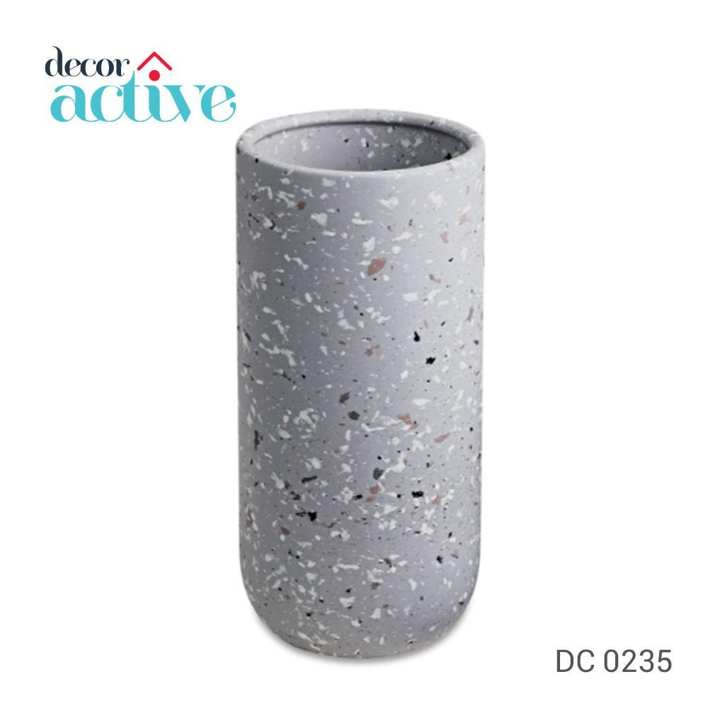 Vaso cinza em ceramica 20,5