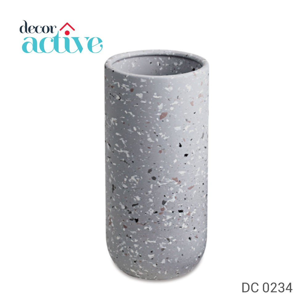 Vaso cinza em ceramica 26,5