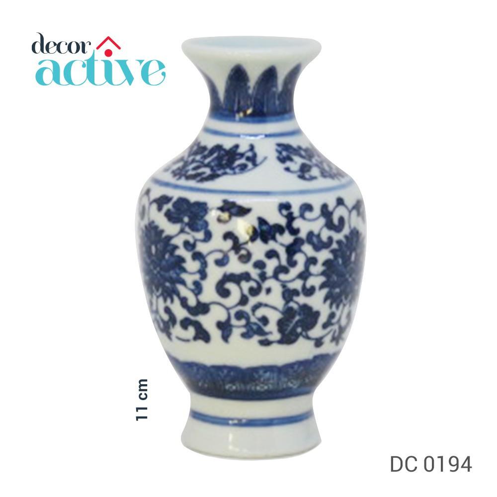Vaso de porcelana Portugal branco e azul 11cm