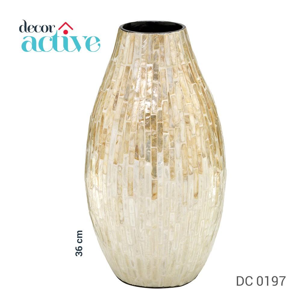 Vaso decorativo em madrepérola 36cm