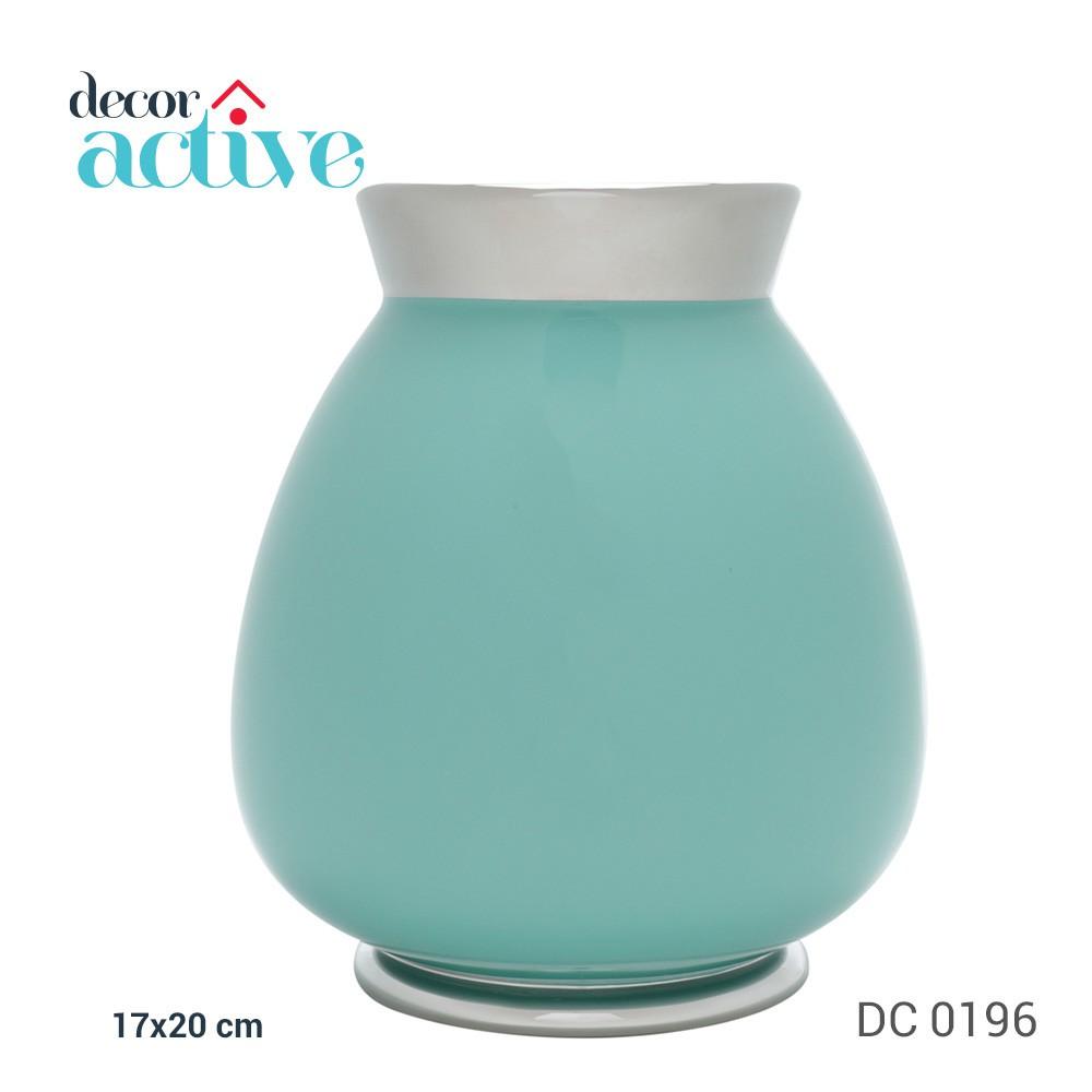 Vaso mint décor em cerâmica 17x20cm