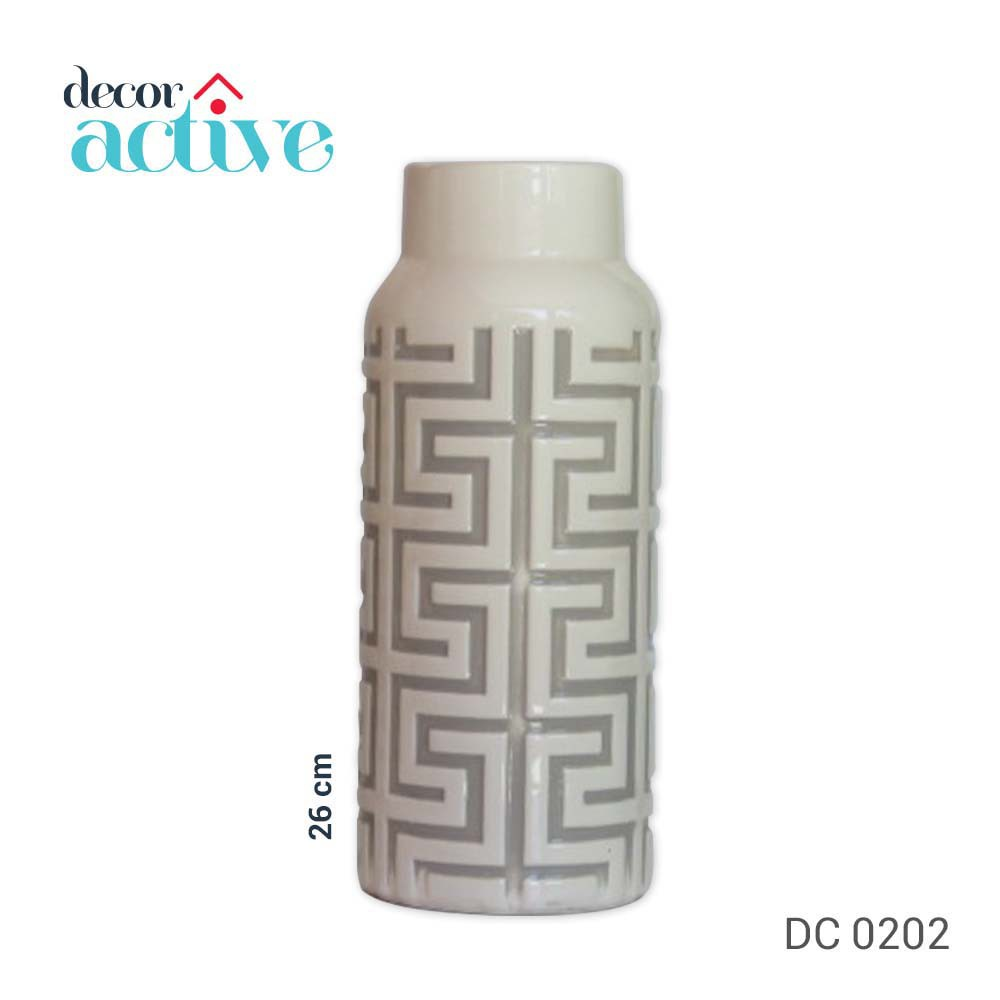 Vaso off White 26cm cerâmica