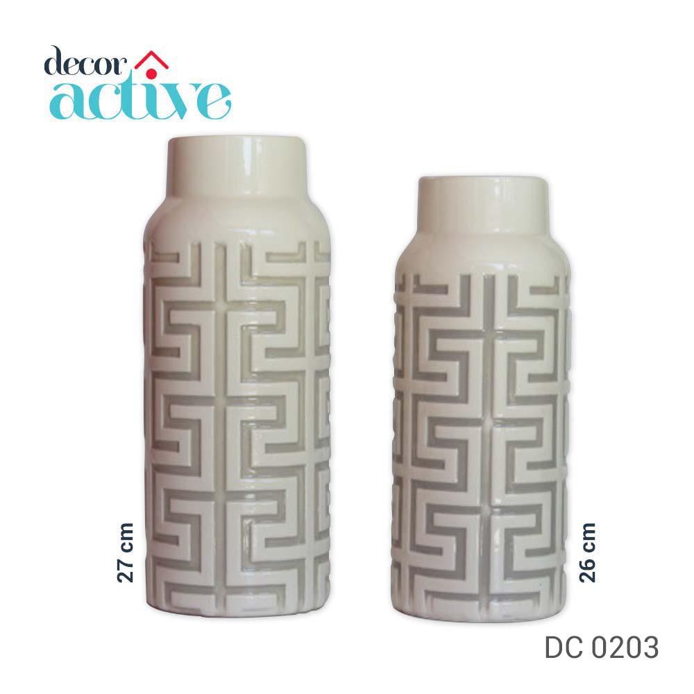 Vaso off White 27cm cerâmica