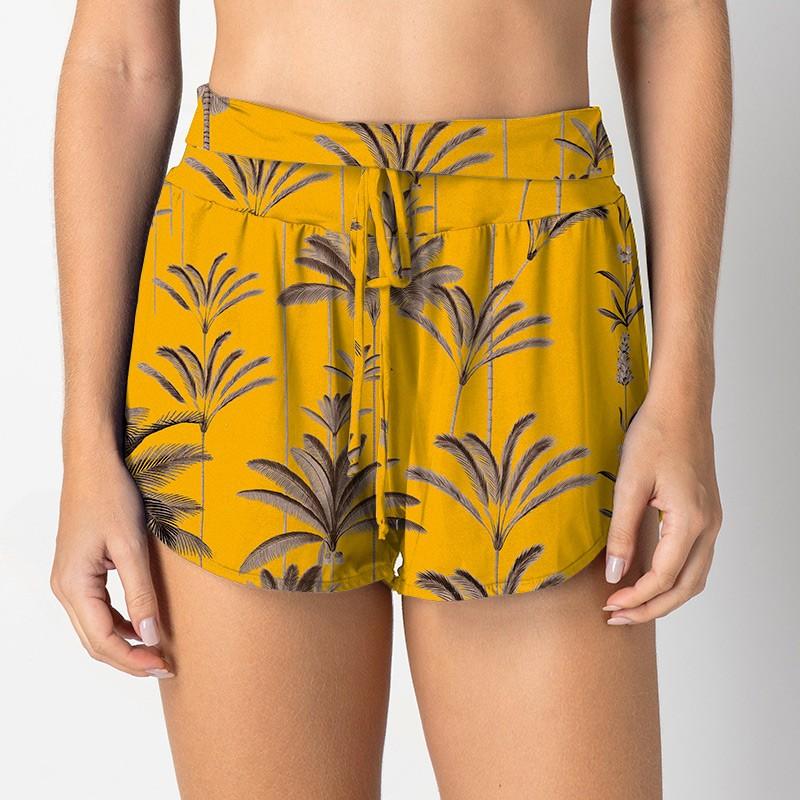 Short Suelen Palm Amarelo