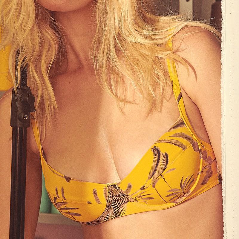 Sutiã Neli Palm Amarelo