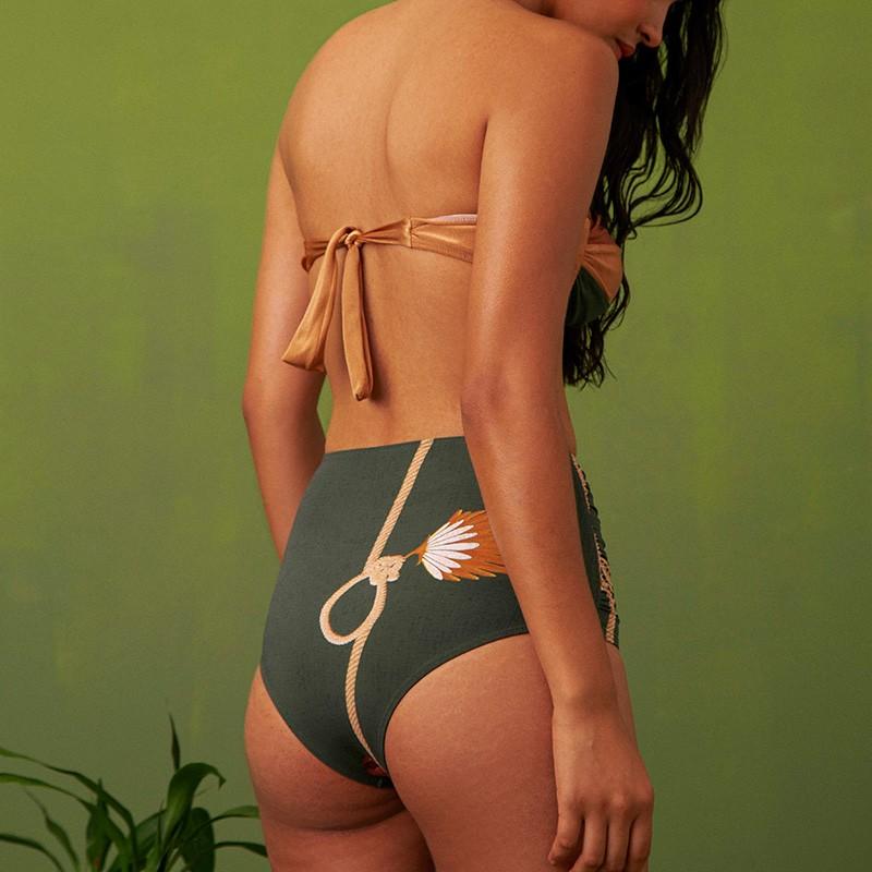 Top Brigitte Amêndoas E Calcinha Lorena Sementes