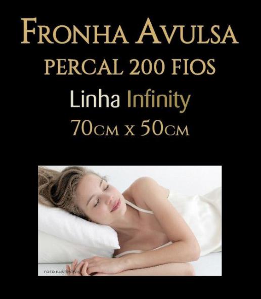 FRONHA AVULSA LINHA INFINITY PERCAL 200 FIOS ESTAMPADO 70CM x 50CM  - RAPHURY